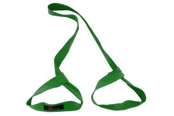 (Green) - ProSource Yoga Mat Carrying Sling, Easy Adjustable Carry Strap 152cm Long Cotton
