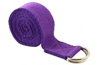 (2.4m, Purple) - Fitness Exercise Yoga Strap
