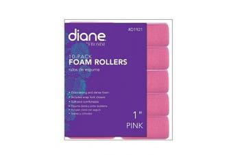 (2.5cm , Pink) - Diane Foam Rollers, Pink, 2.5cm