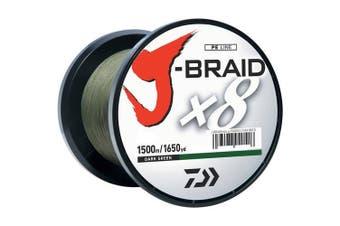 (3.6kg, Dark Green) - Daiwa J-Braid 150M 8-Strand Woven Round Braid Line