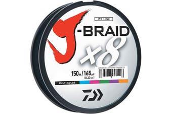 (18kg, Multicolor) - Daiwa J-Braid 150M 8-Strand Woven Round Braid Line