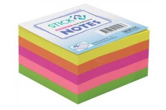 Stick-N Notes Neon Rainbow Cube