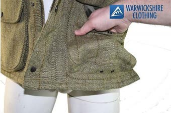 (LIGHT-CHECK, 3XL) - Country Classics Mens Gilets / Bodywarmer Tweed Tweed Gilet