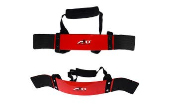ARD CHAMPS Heavy Duty Arm Blaster Body Building Bomber Bicep Curl Triceps Red