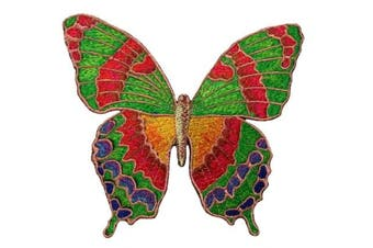 (5) - 5.5 inches5.2.5cm embroidered Butterfly patch applique iron on embroidery (5)