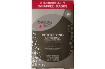 Beauty 360 Detoxifying Antioxidant Tissue Facial Mask (3 per pack)