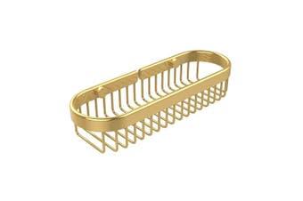 (Polished Brass) - Allied Brass BSK-200LA-PB Oval Toiletry Wire Basket, Polished Brass
