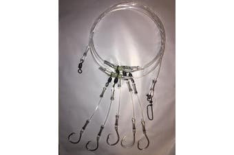 (10/0) - End Game Tackle Company Deep Drop Snapper Rig, 5 Mustad Circle Hooks