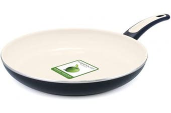 Vita+Verde 30cm Ceramic Non-Stick Open Frypan, Black