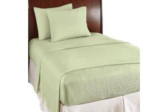 (Twin, Sage) - Bed Tite Perfect Fit Soft Microfiber Sheet Set , Sage , Twin