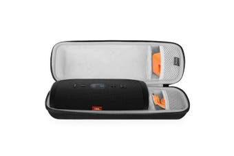(Black_M1) - BOVKE for JBL Charge 3 Waterproof Portable Wireless Bluetooth Speaker Hard EVA Shockproof Carrying Case Storage Travel Case Bag Protective Pouch Box