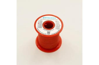 BNTECHGO 18 Gauge Silicone Wire Spool Red 15m Ultra Flexible High Temp 200 deg C 600V 18AWG Silicone Rubber Wire 150 Strands of Tinned Copper Wire Stranded Wire for Model Battery Low Impedance