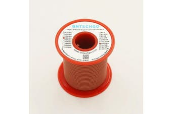BNTECHGO 18 Gauge Silicone Wire Spool Brown 15m Ultra Flexible High Temp 200 deg C 600V 18AWG Silicone Rubber Wire 150 Strands of Tinned Copper Wire Stranded Wire for Model Battery Low Impedance