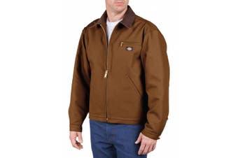 (brownduck, xl) - Dickies Men's Rigid Duck Blanket Lined Jacket