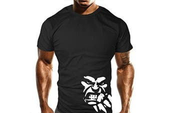 (Small) - New Mens Beast Fist Gym T-Shirt - Training Top - Sports - Bodybuilding Casual Loose Fit Top