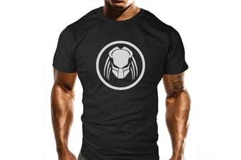 (Medium) - New Predator Gym T-Shirt - Training Top - Sports - Bodybuilding Casual Loose Fit Top - Funny
