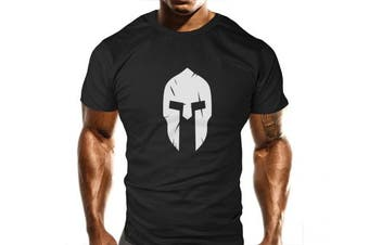 (Medium) - New Spartan Gym T-Shirt - Training Top - Sports - Bodybuilding Casual Loose Fit Top - Funny