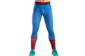 (Spider, X-Large) - Cody Lundin Men's Sports Fitness Tights Compression Leggings Running Training Trouser