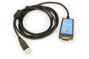 USB 2.0 to RS232 / FTDI chipset / Line length 1,8M, Magnetic Ring, LED