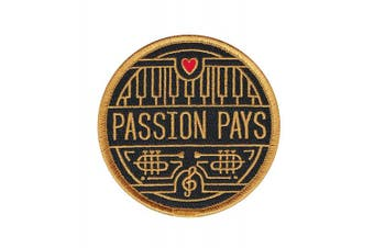 (Music) - Passion Pays Embroidered Sew or Iron-on Patch (Music)