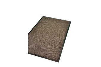 (Brown, 60x90cm (0.6mx0.6m) - Extra Large Medium Small High Grade Top Quality Non Slip Door Mat Rubber Backed Runner Mats Rugs PVC 7mm thick Non Shedding Indoor / Outdoor Use 4 Colours 5 Sizes Made in EU AAA Grade & Quality Commercial Standard (Brown,