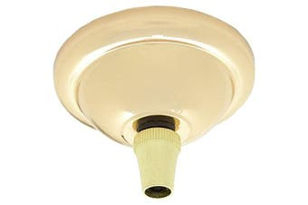 (Polished Brass) - Deco Styled Complete Small Metal Ceiling Rose Kit in Polished Brass Finish