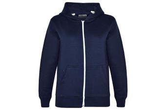 (11-12 Years, Navy New Style) - A2Z 4 Kids® Kids Girls & Boys Unisex Plain Fleece Hoodie Zip Up Style Zipper Age 5 6 7 8 9 10 11 121 3 Years