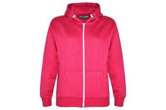 (13 Years, Pink New Style) - A2Z 4 Kids® Kids Girls & Boys Unisex Plain Fleece Hoodie Zip Up Style Zipper Age 5 6 7 8 9 10 11 121 3 Years