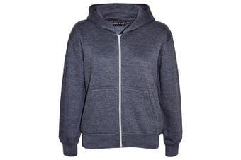 (7-8 Years, Charcoal) - A2Z 4 Kids® Kids Girls & Boys Unisex Plain Fleece Hoodie Zip Up Style Zipper Age 5 6 7 8 9 10 11 121 3 Years