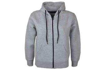 (9-10 Years, Grey New Style) - A2Z 4 Kids® Kids Girls & Boys Unisex Plain Fleece Hoodie Zip Up Style Zipper Age 5 6 7 8 9 10 11 121 3 Years