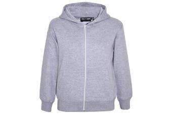 (7-8 Years, Grey) - A2Z 4 Kids® Kids Girls & Boys Unisex Plain Fleece Hoodie Zip Up Style Zipper Age 5 6 7 8 9 10 11 121 3 Years
