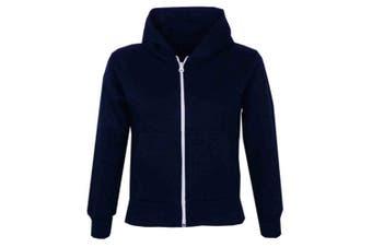 (11-12 Years, Navy) - A2Z 4 Kids® Kids Girls & Boys Unisex Plain Fleece Hoodie Zip Up Style Zipper Age 5 6 7 8 9 10 11 121 3 Years