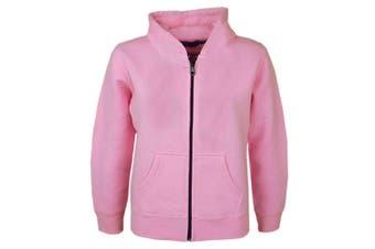 (7-8 Years, Baby Pink New Style) - A2Z 4 Kids® Kids Girls & Boys Unisex Plain Fleece Hoodie Zip Up Style Zipper Age 5 6 7 8 9 10 11 121 3 Years