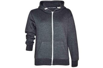 (11-12 Years, Charcoal New Style) - A2Z 4 Kids® Kids Girls & Boys Unisex Plain Fleece Hoodie Zip Up Style Zipper Age 5 6 7 8 9 10 11 121 3 Years