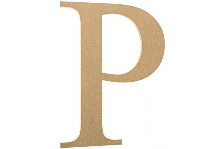 (15cm , Rho) - 15cm Wooden Greek Letter Rho - Fraternity/Sorority Premium MDF Wood Letters (15cm , Rho)