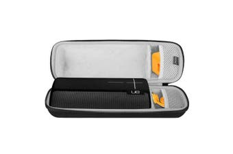 (Black) - BOVKE for UE BOOM 2 / DKnight Big MagicBox Wireless Mobile Bluetooth Speaker Hard EVA Shockproof Carrying Case Storage Travel Case Bag Protective Pouch Box / Fits USB Cable and Wall Charger, Black
