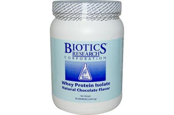 Biotics Research Corporation, Whey Protein Isolate, Natural Chocolate Flavour, 470ml (454 g)
