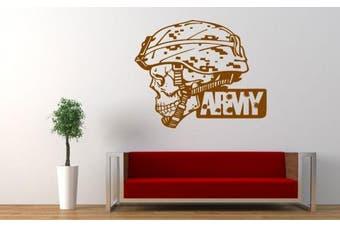 Wall Vinyl Sticker Decals Mural Room Design Pattern Art Army Scull Soldier Helmet bo1944
