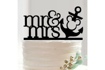 Mr and Mrs Nautical Mickey Disney Wedding Cake Topper - Custom Cake Toppers from Bakell