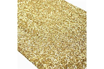 (33cm *180cm , Gold) - TRLYC Sequin Table Runner,30cm by 180cm Sequin tablecloths, Gold