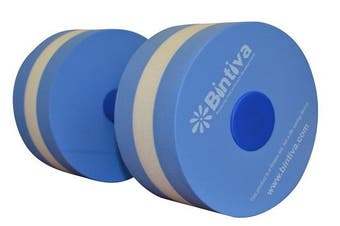 (Large 15cm  x 31cm ) - bintiva Aqua Dumbbell Set - Provides Resistance for Water Aerobics Fitness and Pool Exercises - 1 Pair - 3