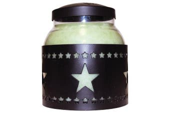 A Cheerful Giver Star Candle Sleeve, Large, Black