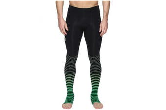 (XXX-Large, Black/Green) - 2XU Men's Elite Power Recovery Compression Tights