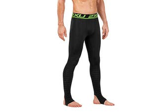 (X-Large, Black/Nero) - 2XU Men's Elite Power Recovery Compression Tights