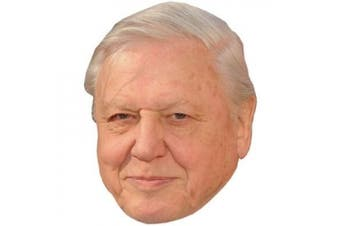 David Attenborough Celebrity Mask, Cardboard Face and Fancy Dress Mask