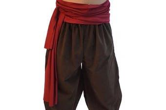Mediaeval-Reenactment-Larp-SCA-Cosplay-Battle Ready-Pirate-Fancy Dress UNISEX BURGUNDY PIRATE/LARP WAIST SASH - One Size