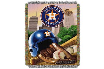 (Houston_Astros) - Officially Licenced MLB Home Field Advantage Woven Tapestry Throw Blanket, Soft & Cosy, Washable, Throws & Bedding, 120cm x 150cm