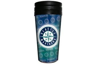 (Seattle Mariners, Blue) - MLB Insulated 3D Metallic Thermal Mug, 470ml