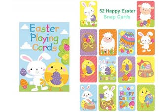 Novelty Happy Easter Playing Cards Party Gift Bag Filler Snap Toy Kids Children Family Game Egg Chick Sheep Bunny