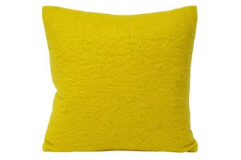 "(Yellow, Cushion Cover) - Riva Paoletti Kendal Cushion Cover - Yellow - Faux Mohair Fabric - Knife Edging - 100% Polyester - 45 x 45cm (18"" x 18"" inches) - Designed in the UK"